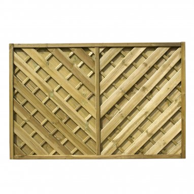 Continental Fence Panel - pressure treated chevron weave 1800mm x 1800mm