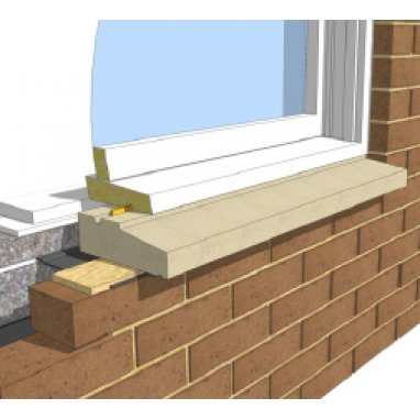One Brick Sill - Without Stools 200mm width window cill