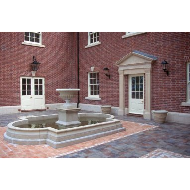 Dry Cast Reconstituted Stone Classic Pool Surround - UK Made