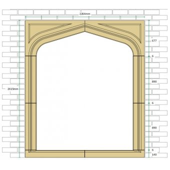 Gothic Cast Stone Door Surround