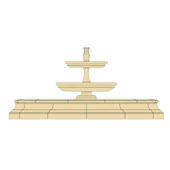Classical Tiered Cast Stone Fountain