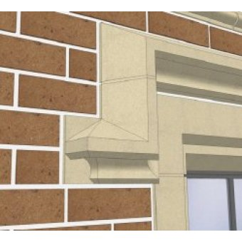 Cast Stone Window Hood Moulding