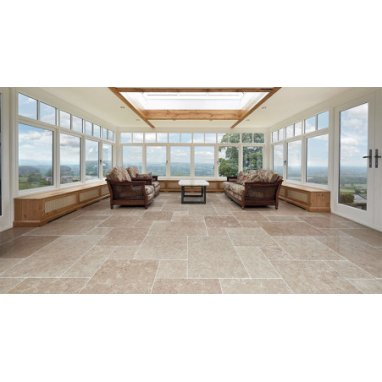 Strata Stone Cepes Internal Limestone 600mm by 400mm Tumbled Tile Slab Pack - 30m2
