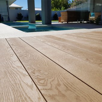Millboard Enhanced Grain Decking – Golden Oak Planks