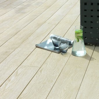 Millboard Enhanced Grain Decking – Limed Oak Planks