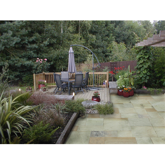 Strata Whitchurch Mint Sandstone Paving Slab 15.25m2 Patio Pack - £28.33 p/m2