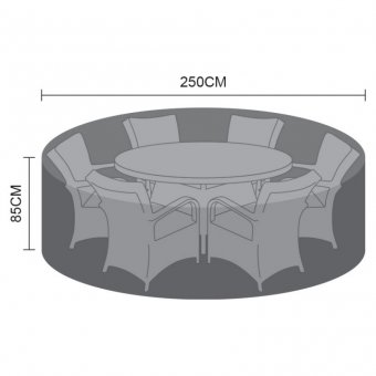Weatherguard Cover for 8 Seat Round Dining Set - 250cm x 85cm