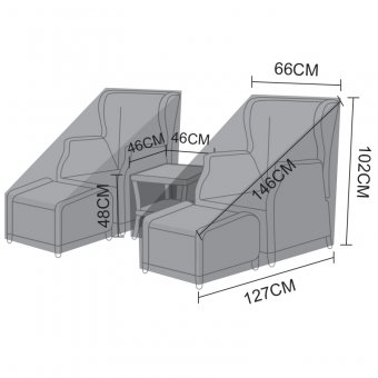 Weatherguard Cover for Nova Skylar Reclining Lounge Set