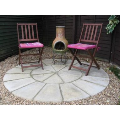 Olde York Paving HALF Circle Kit D3.6m - Worn Limestone