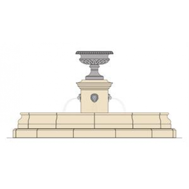 Pope's Cast Stone Water Fountain
