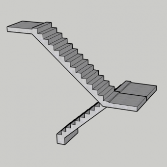 Precast Concrete Stair Flights and Landings from £935m3 Supply Only