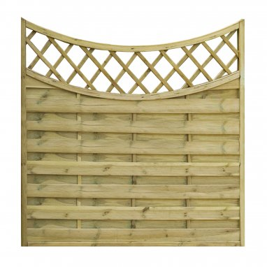 Continental Fence Concave Panel - pressure treated horizontal weave 1600mm x 1800mm