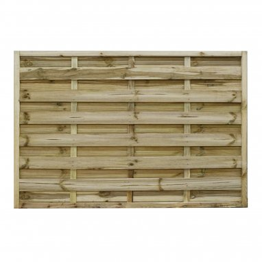 Continental Fence Panel - pressure treated horizontal weave 1200mm x 1800mm