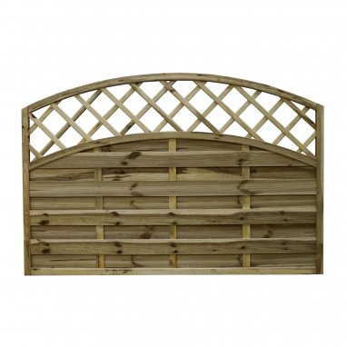 Continental Fence Panel - pressure treated arch convex panel 1200mm x 1800mm