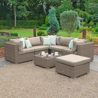 Nova - Chelsea Luxury Rattan Corner Sofa Set - Willow