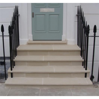 Bullnose Dry Cast Reconstituted Stone Steps - UK Made