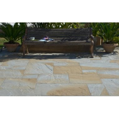 Strata Whitchurch Glendale Sandstone Paving Slab 15.25m2 Patio Pack - £28.33 p/m2