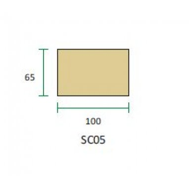 Cast Stone String Course - One Brick SC05 (100mm x 65mm)