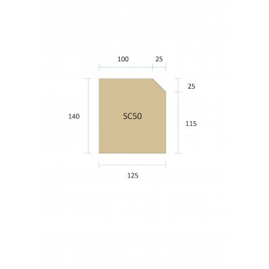 Cast Stone String Course - Two Brick SC50 (140mm x 125mm)