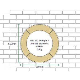 Dry Cast Reconstituted Stone Circular 100mm Window Surround - UK Made