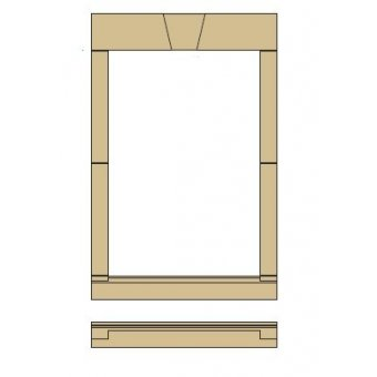Style 4 - Cast Stone Window Surround with a Keystone Head - straight ends