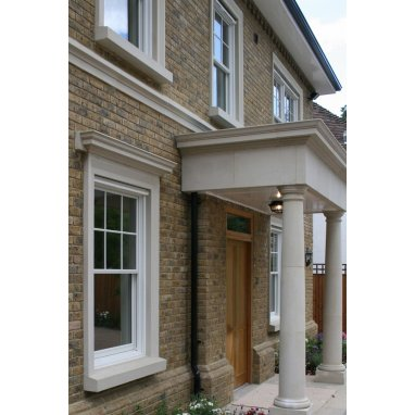 Dry Cast Reconstituted Stone Decorative Head Window Surround - UK Made
