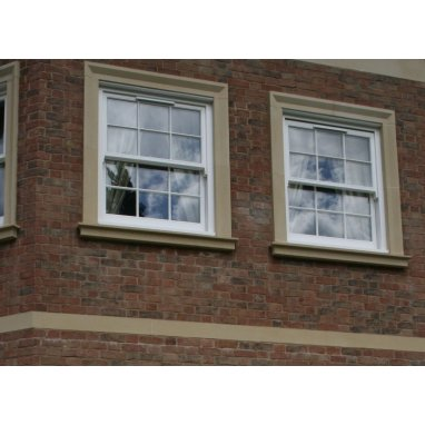 Style WS60P- Cast Stone Window Surround with a Plain Head