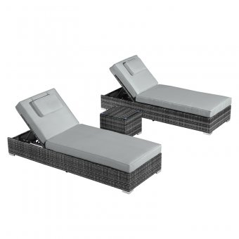 Nova - Rimini Sun Lounger Set - Grey