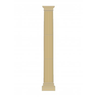 Tuscan Cast Stone Column Fluted