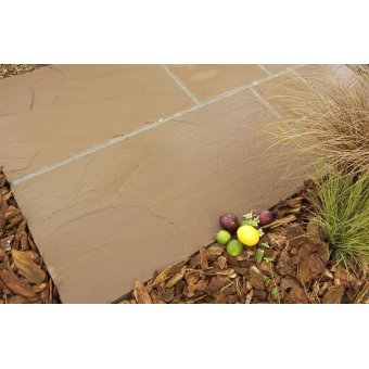 Strata Whitchurch Golden Sandstone Paving Slabs 15.25m2 Patio Pack - £29.96 p/m2