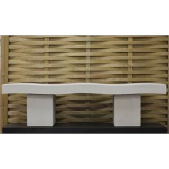 A Harley Modern Wave Garden Bench Dry Cast Reconstituted Stone - UK Made