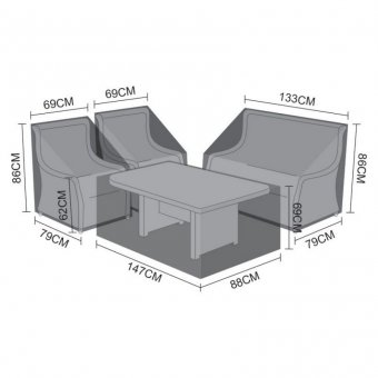 Weatherguard Cover Pack for Nova Oyster 2 Seater Sofa Dining Set