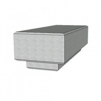 The Zanon Concrete Urban Street Bench - 1500mm