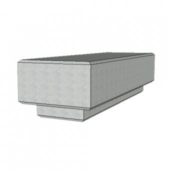 The Zanon Concrete Urban Street Bench - 1800mm