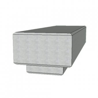 The Zanon Concrete Urban Street Bench - 2000mm
