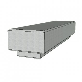The Zanon Concrete Urban Street Bench - 2400mm