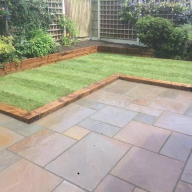 Autumn Brown Sandstone Paving Slab Patio Kit 19.19m2 Patio Pack - £21.72 p/m2