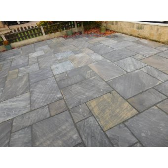 Black Sandstone Paving Slab Patio Kit 19.19m2 Patio Pack - £29.03 p/m2