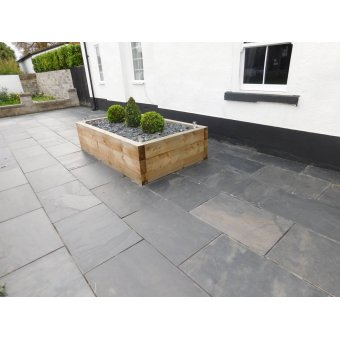 Black Slate Paving Slab Patio Kit - 19.19m2 Project Pack