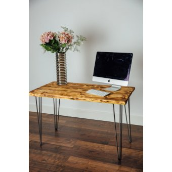 1000mm Burnt Scaffold Board Desk
