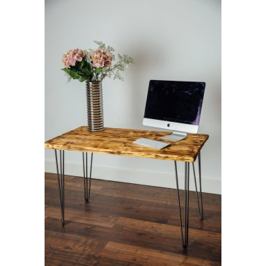1600mm Burnt Scaffold Board Desk