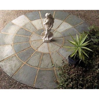 Olde York Paving HALF Circle Kit D3.6m - Grey Green