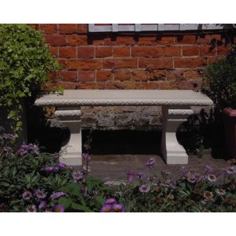 A Stone Straight Classic Garden Cast Concrete Bench TOP ONLY