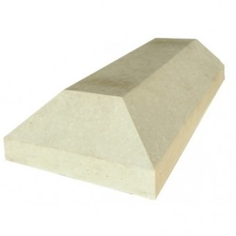 Chamfered 11 inch Cast Concrete Stone Coping End - UK Made