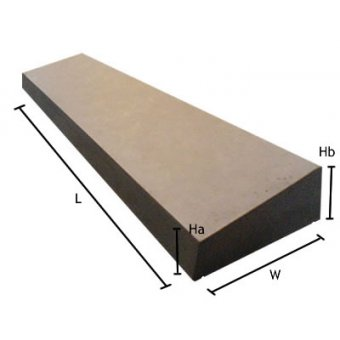 Once Weathered 18 inch Cast Concrete Coping Stone - UK Made
