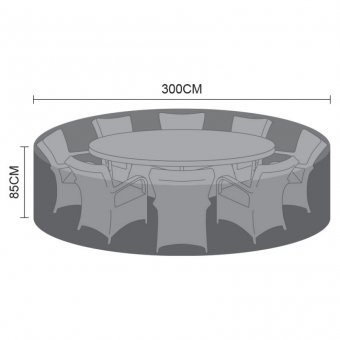 Weatherguard Cover for 8 Seat Round Dining Set - 300cm x 85cm