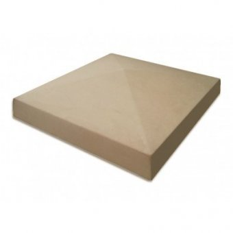 15 Inch Dry Cast Reconstituted Stone Utility Pier Cap (380mm x 380mm) - UK Made
