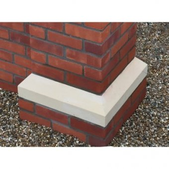 18 Inch, 450mm Dry Cast Stone Base Plinth - UK Made