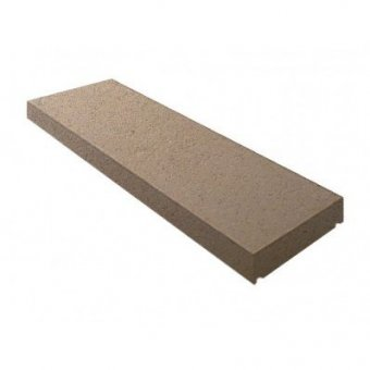 15 Inch Dry Cast Reconstituted Stone Flat Wall Coping Stone (380mm x 600mm) - UK Made