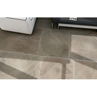 Strata Stone Farmcote Internal and External Limestone 500mm by Random Lengths Tumbled Tile Slab Pack - 16.25m2
